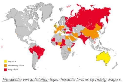 Prevalentie anti-HDV bij HBsAg dragers