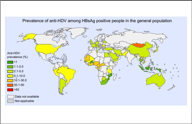Prevalentie anti-HDV bij HBsAg positieve personen